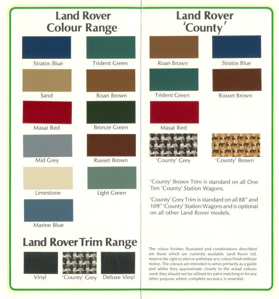 series 2-2a colors [Archive] - Australian Land Rover Owners