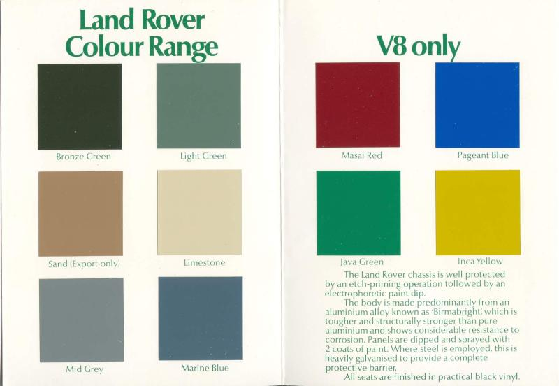 Land Rover Pastel Green Paint